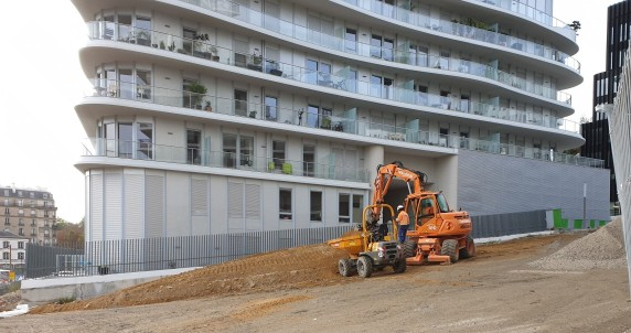 Le parc Martin Luther-King en travaux.