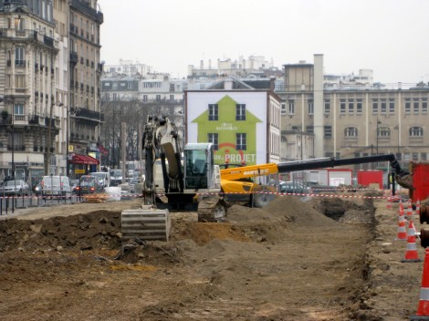 Début de travaux du parking